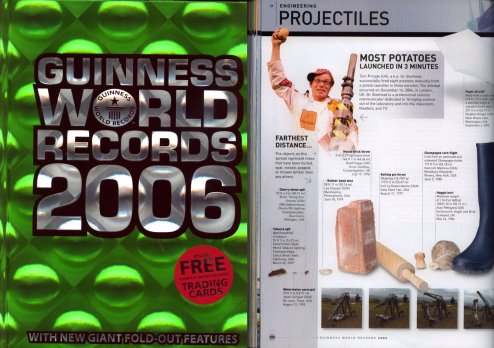 Dr Bunhead in the Guinness Book of Records 2006